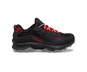 Moab Speed Low Waterproof, Grey/Black/Red, dynamic