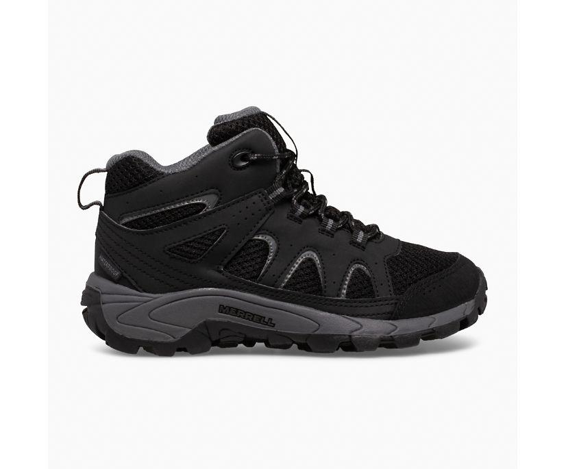 Oakcreek Mid Lace Waterproof Boot, Black/Grey, dynamic