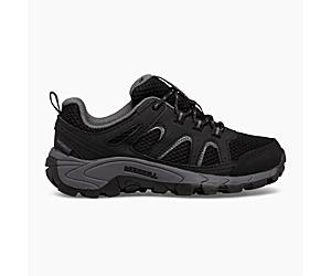 Oakcreek Low Lace Waterproof Sneaker, Black/Grey, dynamic