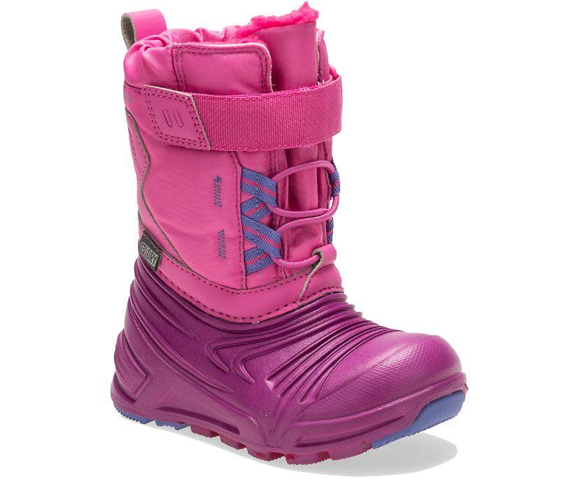 Snow Quest Lite 2.0 Waterproof Jr. Boot, Pink, dynamic