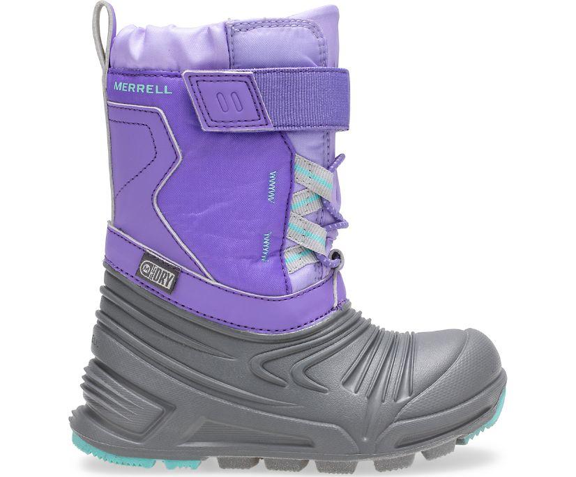 Snow Quest Lite 2.0 Waterproof Jr. Boot, Grey/Purple, dynamic
