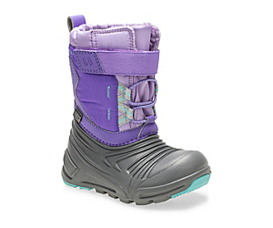 Snow Quest Lite 2.0 Waterproof Jr. Boot, Grey/Purple, dynamic