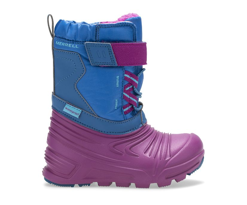 Snow Quest Lite 2.0 Waterproof Jr. Boot, Deep Turquoise, dynamic