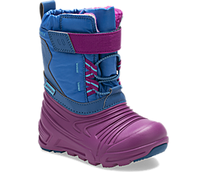 Snow Quest Lite 2.0 Waterproof Jr. Boot, Deep Turquoise, dynamic