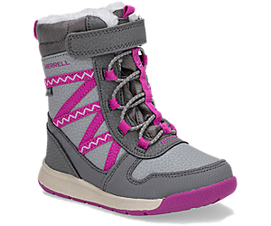 Snow Crush 2.0 Waterproof Jr. Boot, Grey/Purple, dynamic