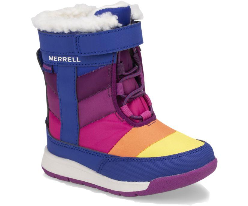Alpine Puffer Waterproof Jr. Boot, Blue/Multi, dynamic
