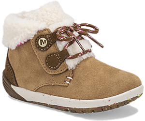 Bare Steps® Cocoa Jr. Boot, Chestnut Suede, dynamic
