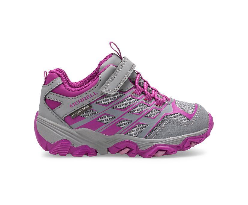 Moab FST Low A/C Waterproof Jr. Sneaker, Grey/Berry, dynamic