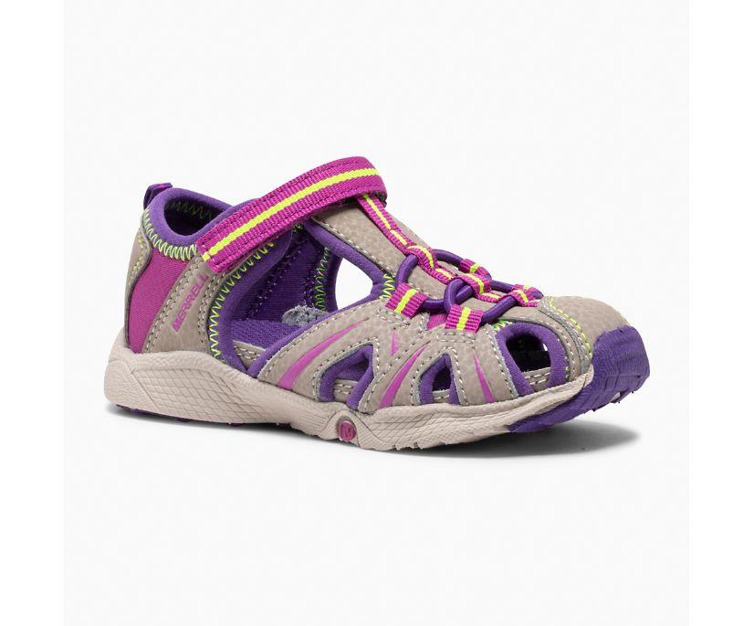 Hydro Jr. Sandal, Tan/Purple, dynamic