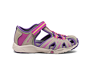 Hydro Jr. Sandal, Tan/Purple, dynamic