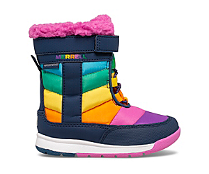 Alpine Puffer Waterproof Jr. Boot, Rainbow Multi, dynamic