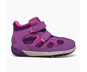 Bare Steps® Altitude Waterproof Jr. Boot, Purple/Berry, dynamic