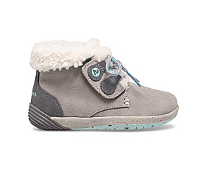 Bare Steps® Cocoa Jr. Boot, Grey/Turquoise, dynamic