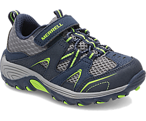Trail Chaser Jr. Shoe, Navy/Green, dynamic
