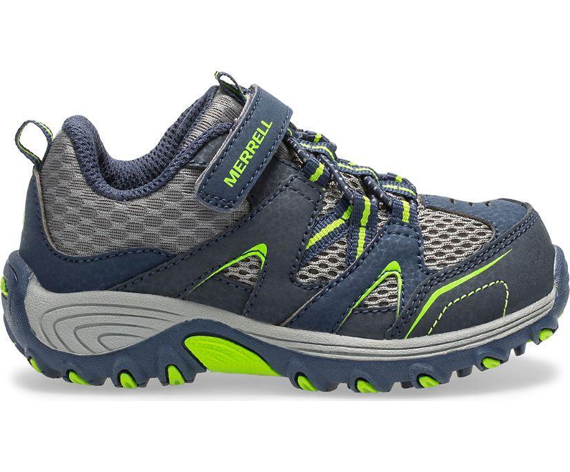Trail Chaser Jr. Shoe, Navy/Green, dynamic