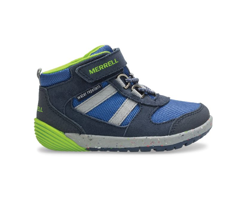 Bare Steps® Ridge Jr Hiker, Navy/Green, dynamic