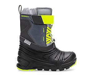 Snow Quest Lite 2.0 Waterproof Jr. Boot, Grey/Citron, dynamic