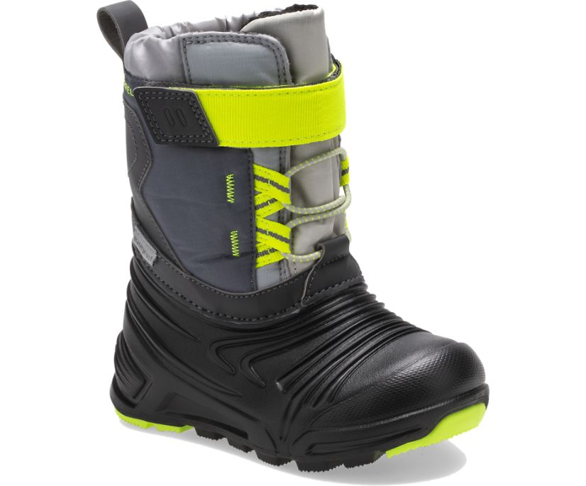 Snow Quest Lite 2.0 Waterproof Jr. Boot, Grey/Citron, dynamic