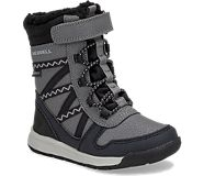 Snow Crush 2.0 Waterproof Jr. Boot, Black/Grey, dynamic