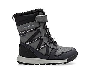 Snow Crush 2.0 Waterproof Jr. Boot, Black/Grey, dynamic