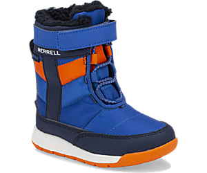 Alpine Puffer Waterproof Jr. Boot, Blue/Orange, dynamic