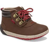 Bare Steps® Boot 2.0 Jr., Brown Suede, dynamic
