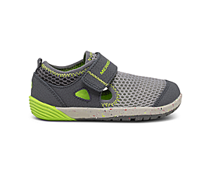 Bare Steps® H2O Sneaker, Grey/Lime, dynamic