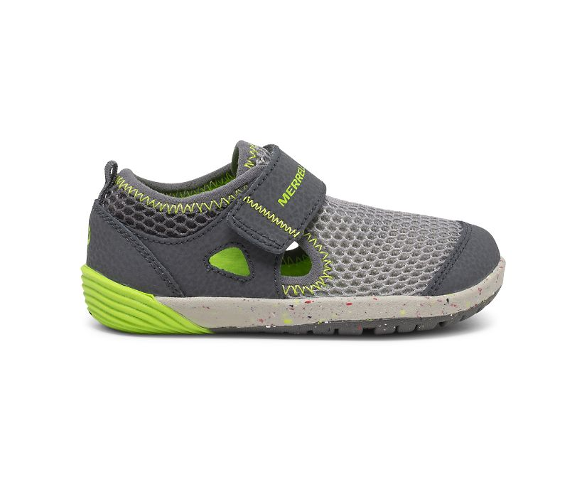 Bare Steps® H2O Sneaker, Grey/Lime, dynamic