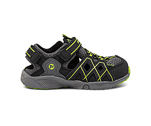 Hydro Quench Jr. Sandal, Grey/Black/Lime, dynamic