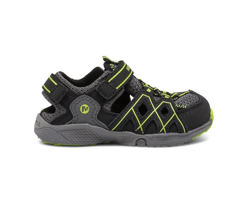 Hydro Quench Jr. Sandal, Grey/Black/Lime, dynamic