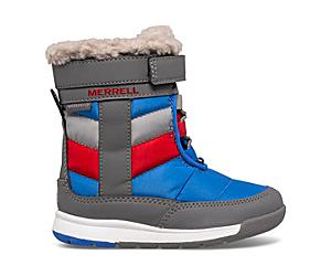 Alpine Puffer Waterproof Jr. Boot, Grey/Royal/Red, dynamic