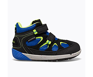 Bare Steps® Altitude Waterproof Jr. Boot, Black/Royal, dynamic