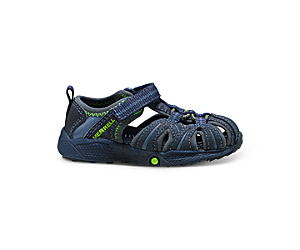 Hydro Jr. Sandal, Navy / Green, dynamic
