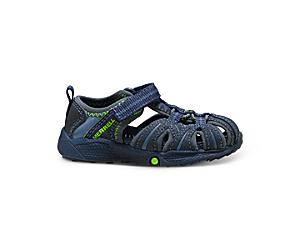 Hydro Jr. Sandal, Navy / Green, dynamic