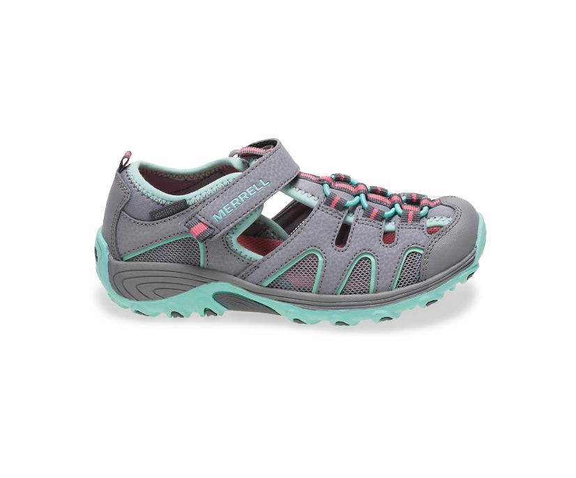 Hydro H2O Hiker Sandal, Grey/Turquoise, dynamic
