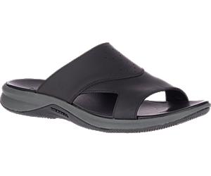 Tideriser Luna Slide Leather, Black, dynamic