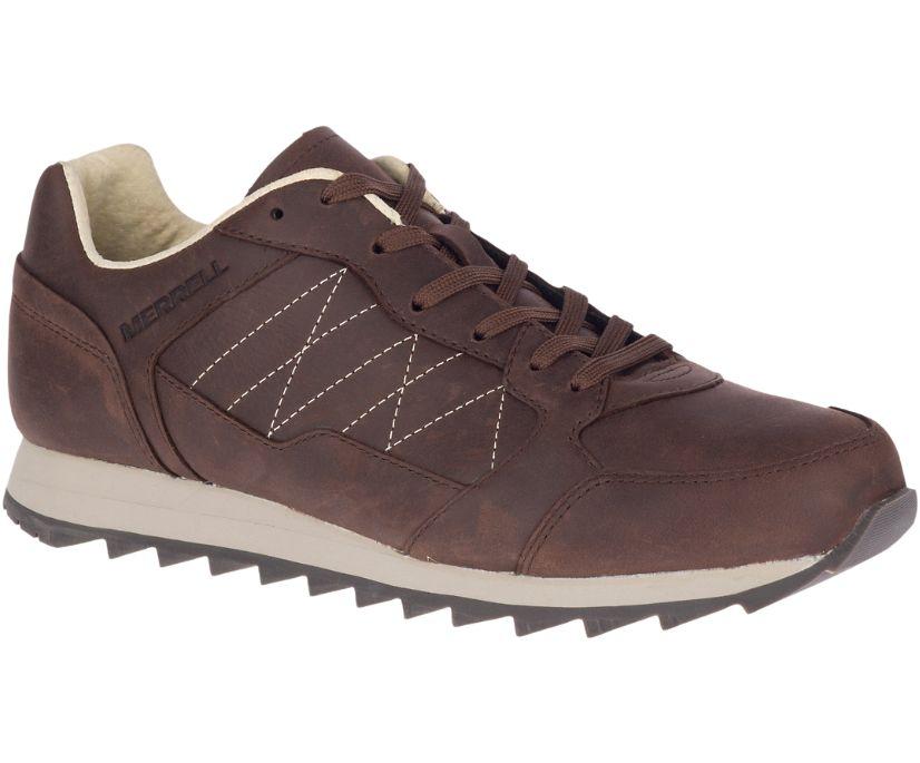 Alpine Sneaker Leather, Chocolate, dynamic