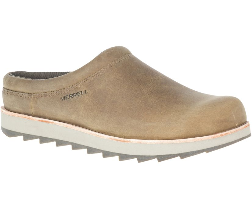 Juno Clog Leather, Fossil, dynamic