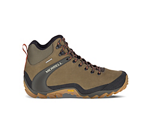 Chameleon 8 Leather Mid Waterproof, Olive, dynamic