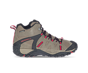 Deverta 2 Mid Waterproof, Boulder/Fiery Red, dynamic