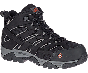 Moab Vertex Mid Waterproof Comp Toe Work Boot Wide Width, Black, dynamic