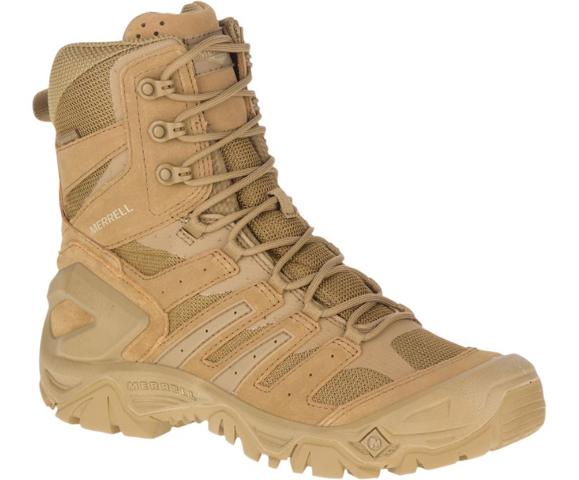 "Strongfield Tactical 8"" Waterproof Boot, Dark Coyote, dynamic"