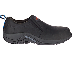 Jungle Moc Leather Comp Toe Work Shoe Wide Width, Black, dynamic