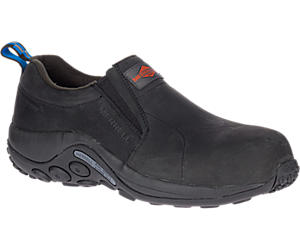 Jungle Moc Leather Comp Toe Work Shoe, Black, dynamic