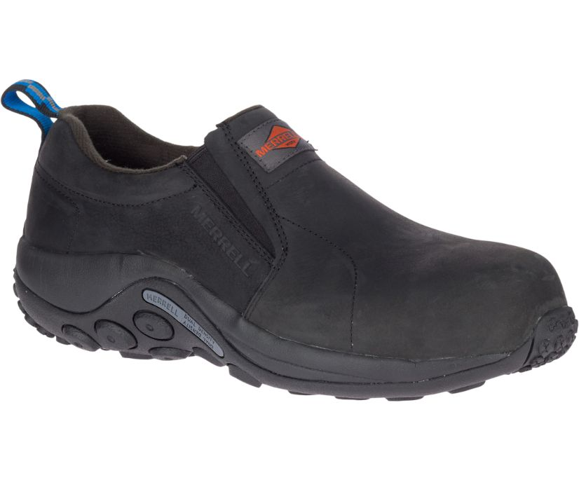 Jungle Moc Leather Comp Toe Work Shoe Wide Width, Black, dynamic