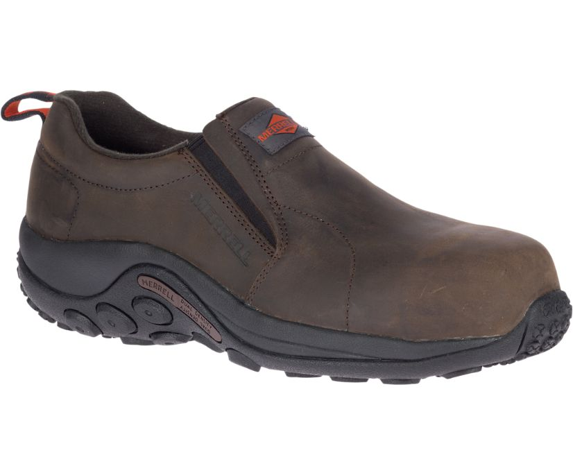 Jungle Moc Leather Comp Toe Work Shoe Wide Width, Espresso, dynamic