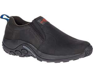 Jungle Moc Leather SR Work Shoe Wide Width, Black, dynamic
