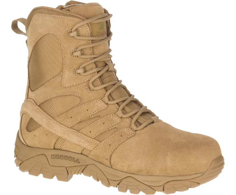 "Moab 2 8"" Defense Zip Comp Toe Boot Wide Width, Dark Coyote, dynamic"