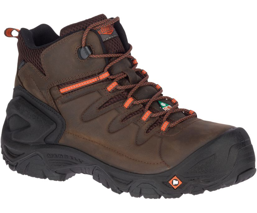 """Strongfield Leather 6"""" Waterproof Comp Toe CSA Work Boot, Espresso, dynamic"""