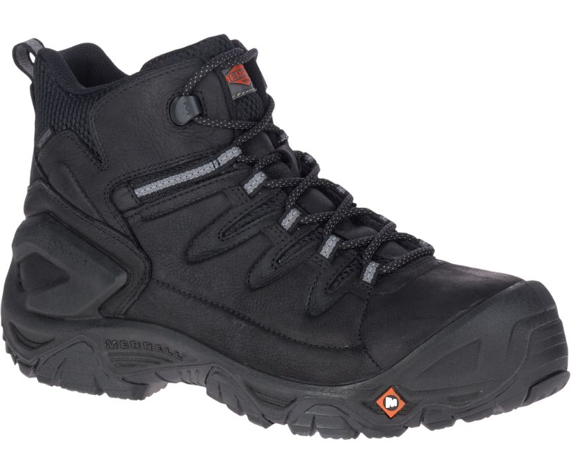 "Strongfield Leather 6"" Waterproof Comp Toe Work Boot, Black, dynamic"